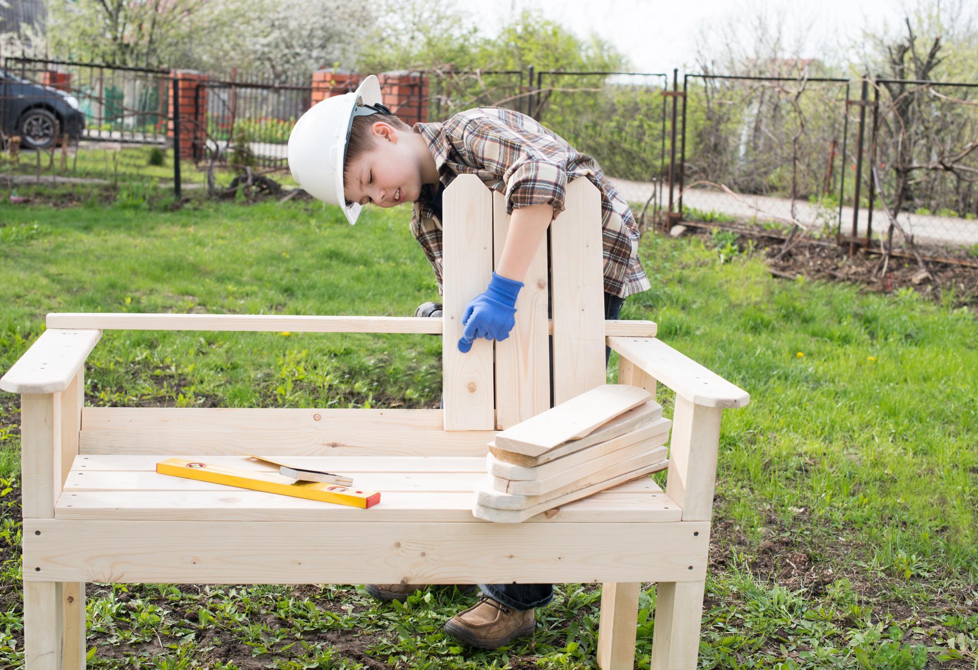 Steigerhouten tuinbank maken